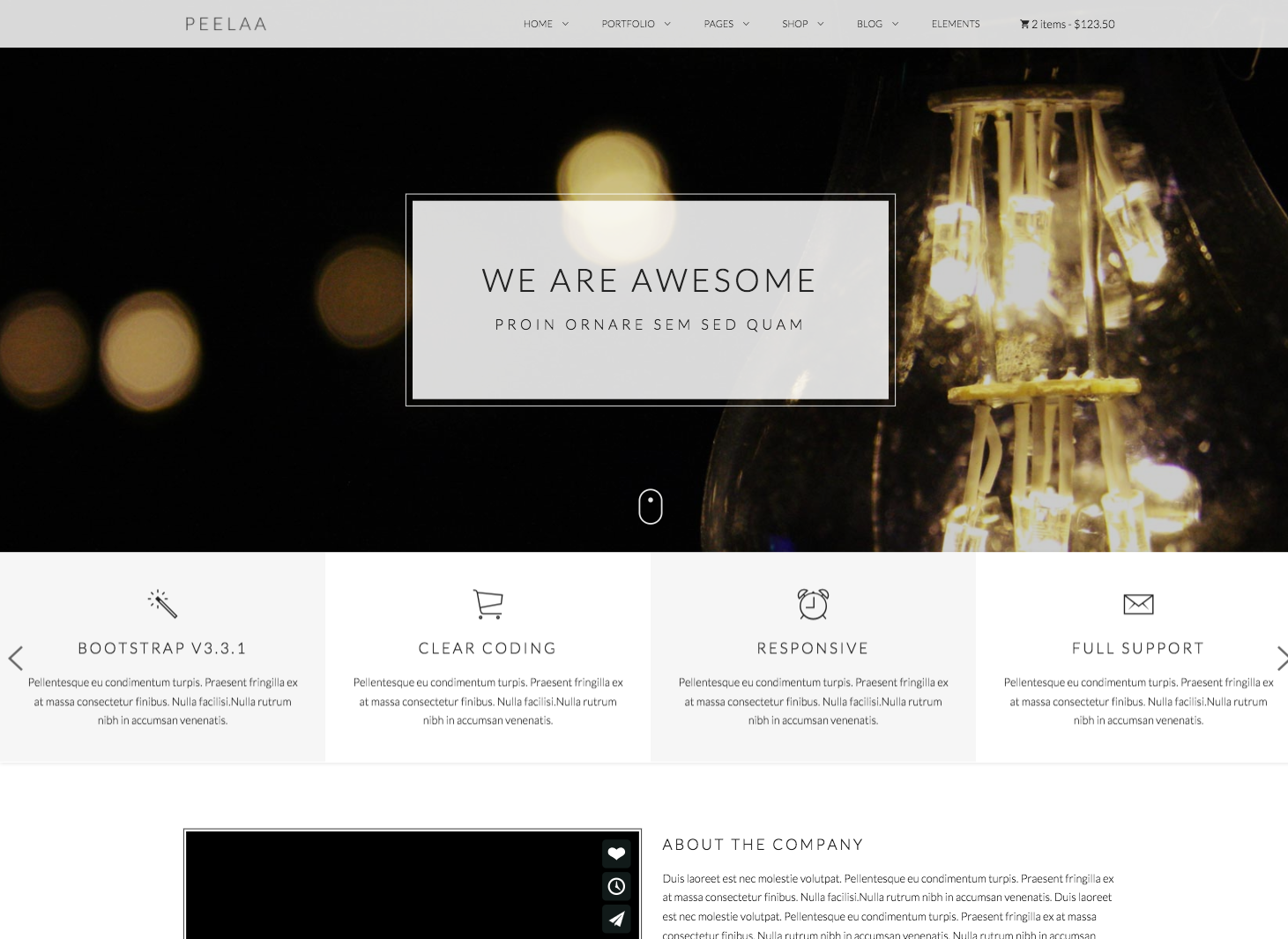 Peelaa – Creative, Business and Portfolio Template